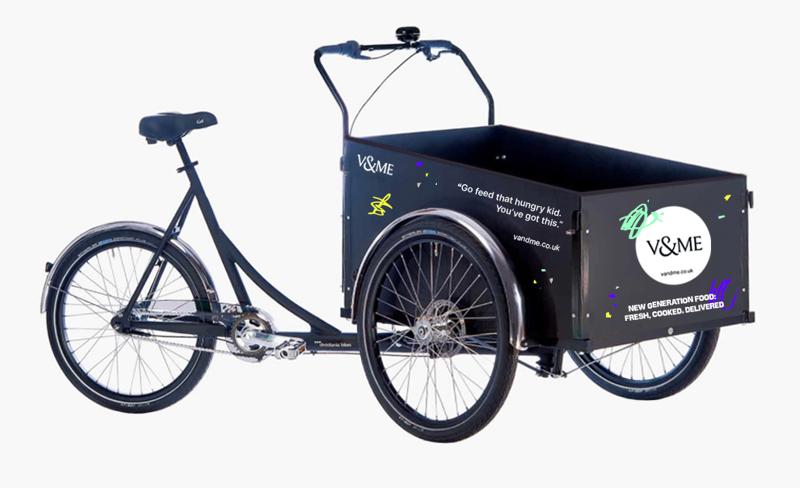 V&Me deliveries bike