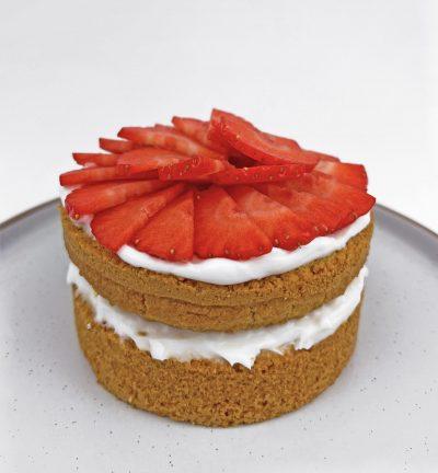 Sugarless smash cake